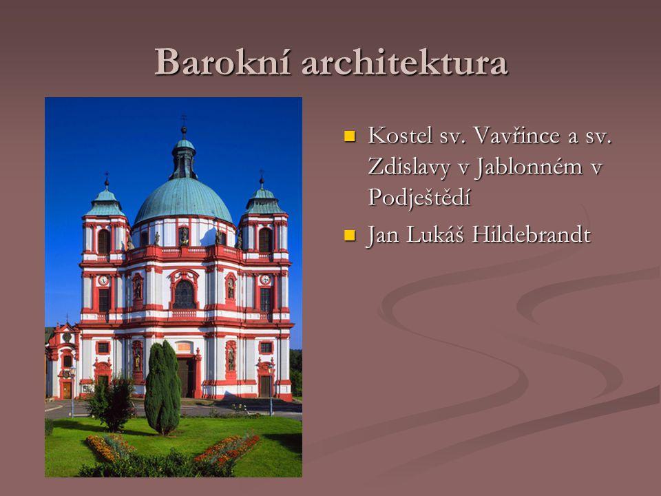Barokní architektura Kostel sv. Vavřince a sv. Zdislavy v Jablonném v Podještědí.