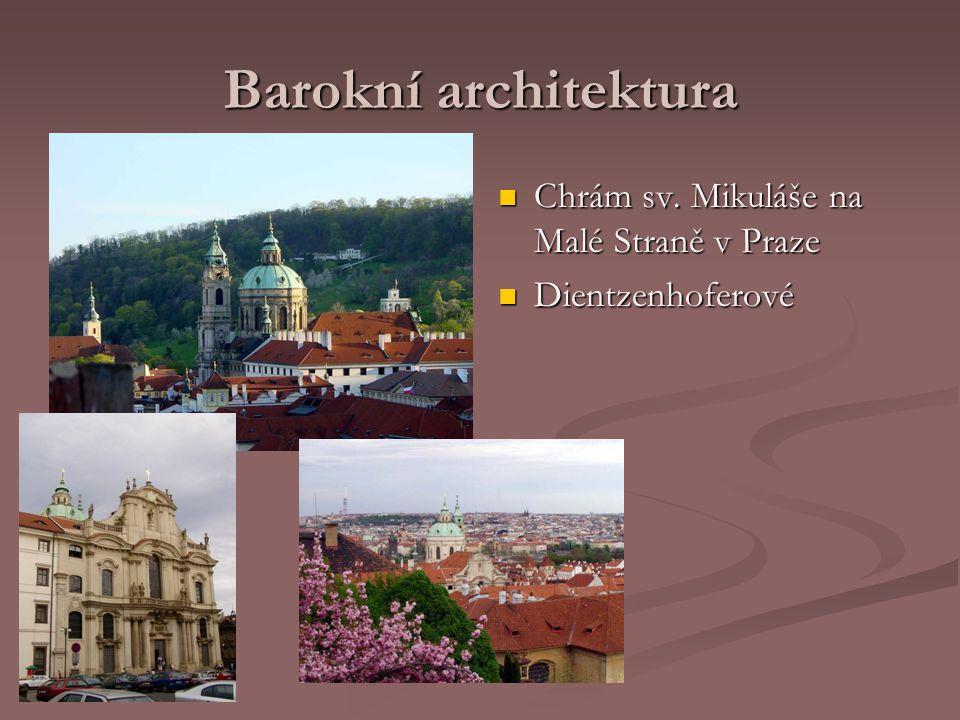 Barokní architektura Chrám sv. Mikuláše na Malé Straně v Praze