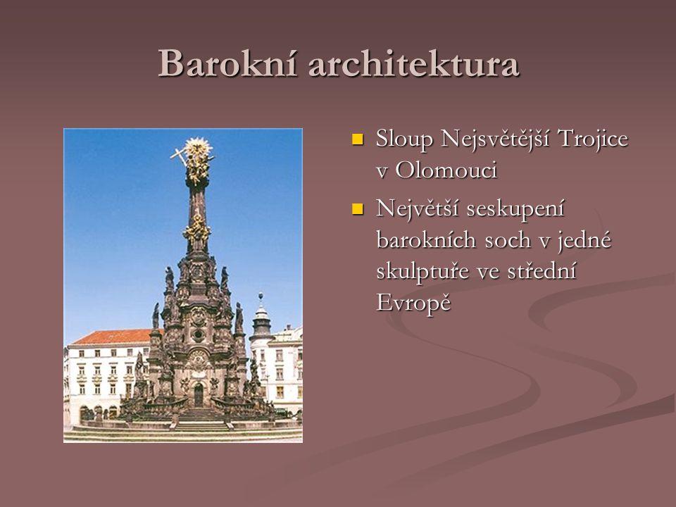 Barokní architektura Sloup Nejsvětější Trojice v Olomouci