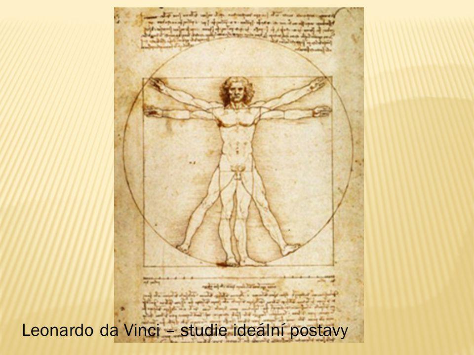 Leonardo da Vinci – studie ideální postavy