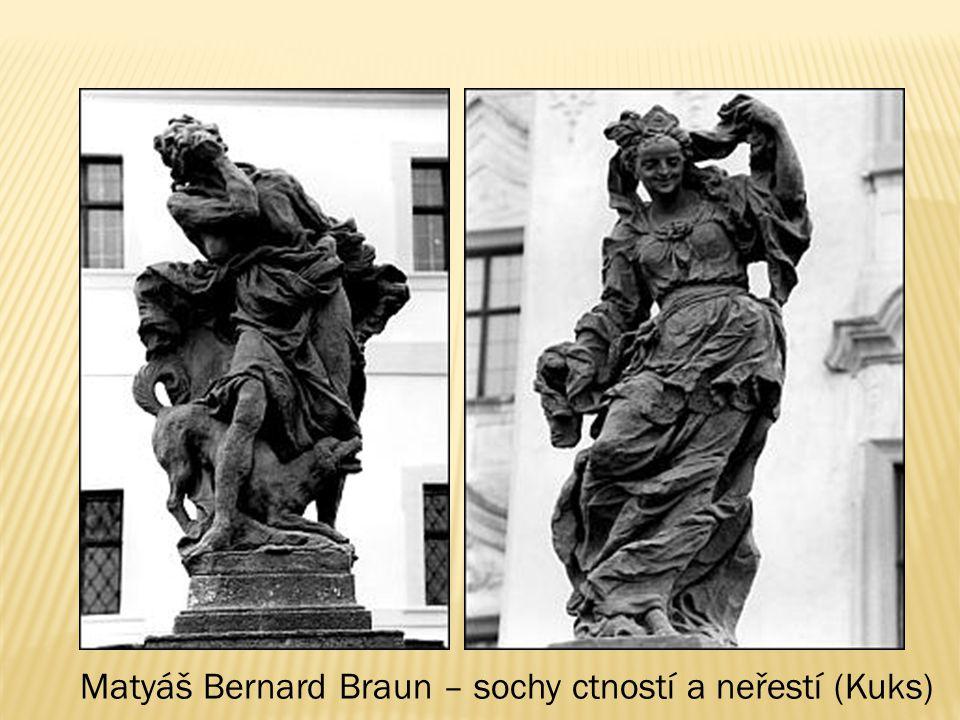 Matyáš Bernard Braun – sochy ctností a neřestí (Kuks)