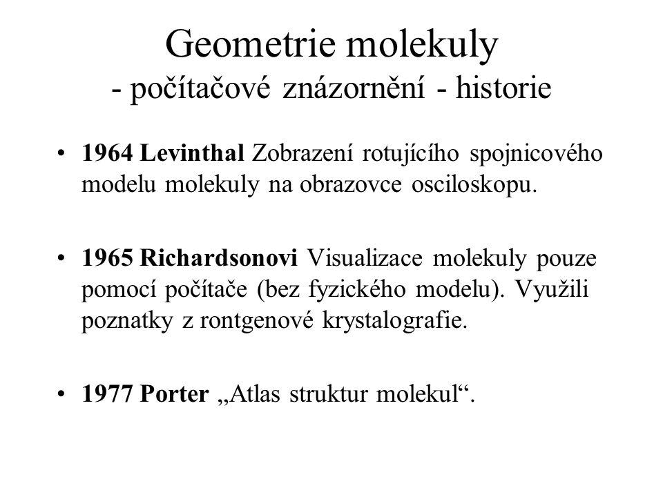 Geometrie molekuly - počítačové znázornění - historie