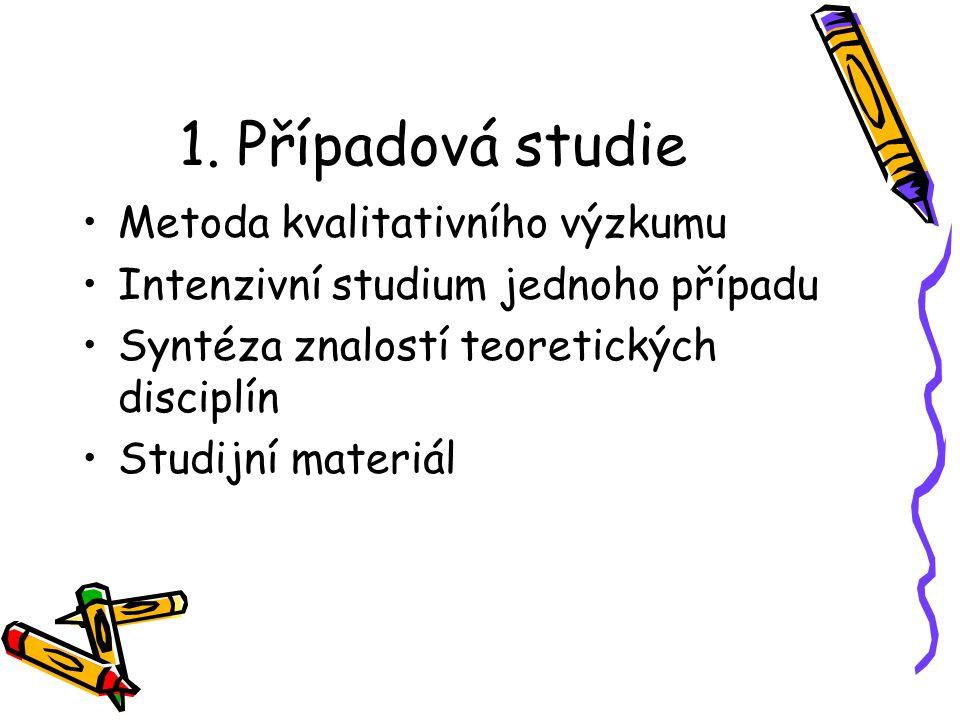 1. Případová studie Metoda kvalitativního výzkumu