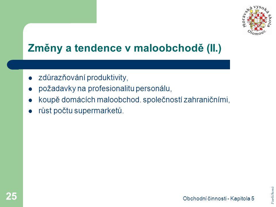 Změny a tendence v maloobchodě (II.)