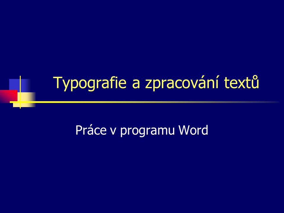 Typografie a zpracování textů