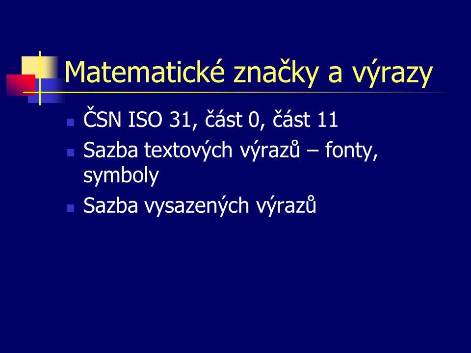 Matematické značky a výrazy