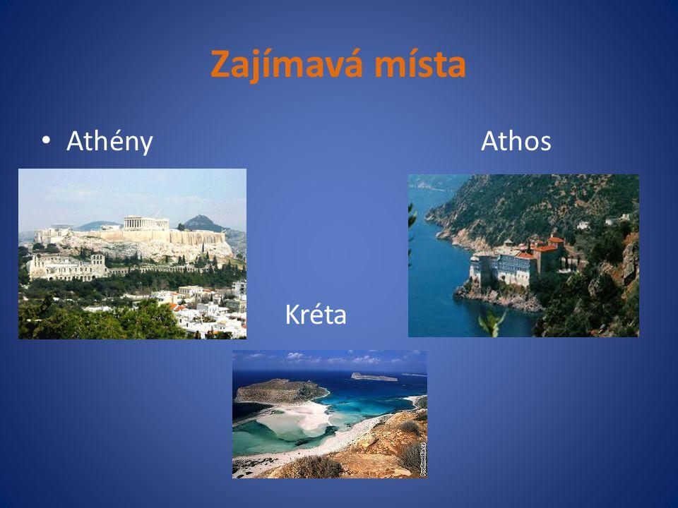 Zajímavá místa Athény Athos Kréta