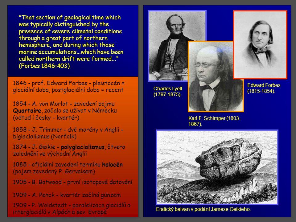 1846 - H. B. Geinitz - znovu název kvartér