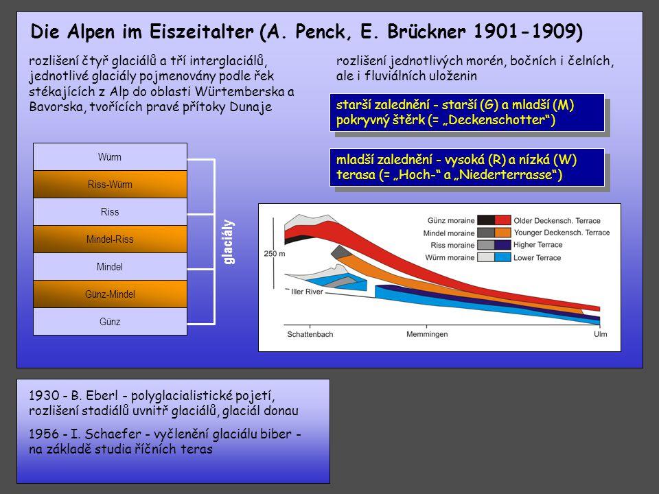 Die Alpen im Eiszeitalter (A. Penck, E. Brückner 1901-1909)