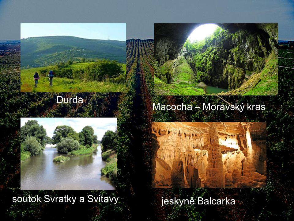 Durda Macocha – Moravský kras soutok Svratky a Svitavy jeskyně Balcarka
