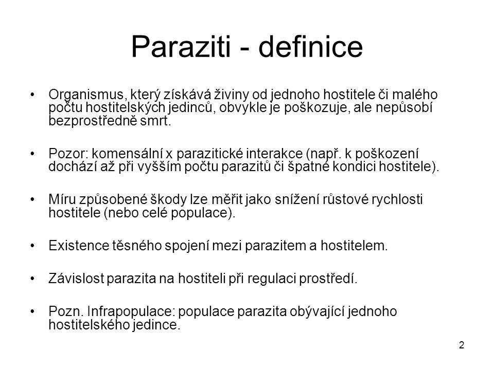Paraziti - definice