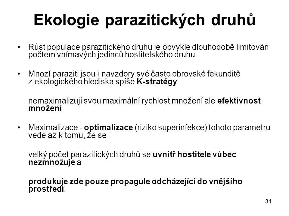 Ekologie parazitických druhů
