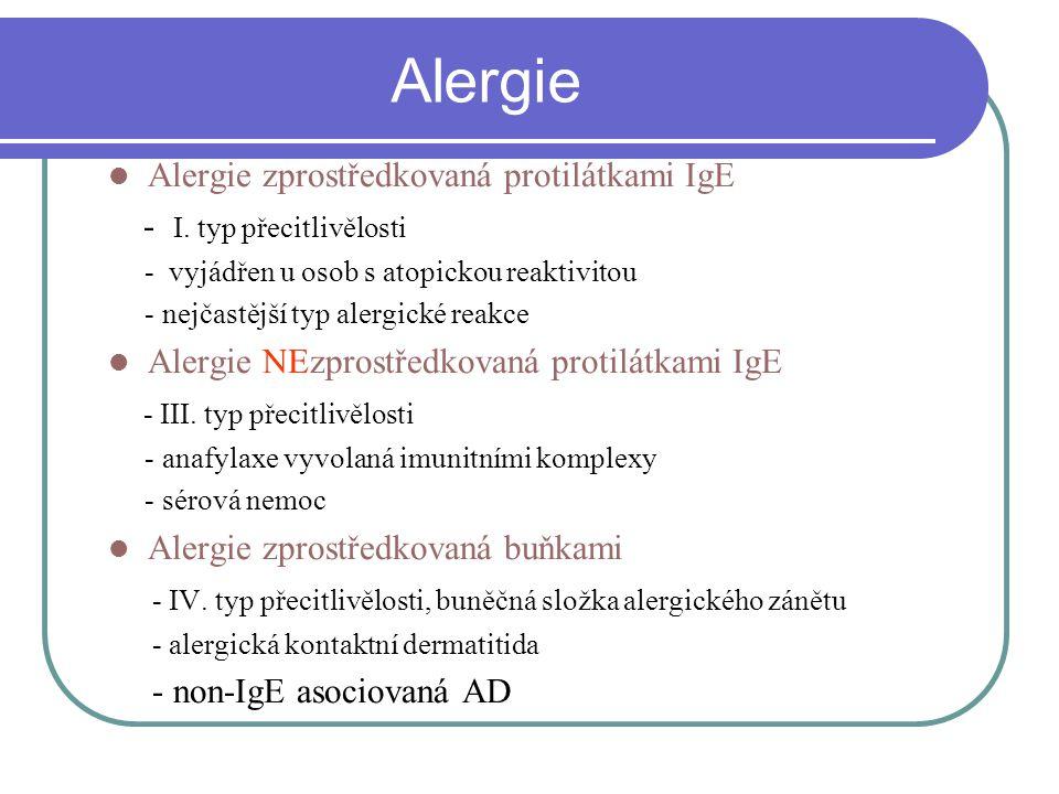 Alergie Alergie zprostředkovaná protilátkami IgE