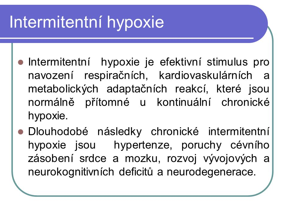 Intermitentní hypoxie