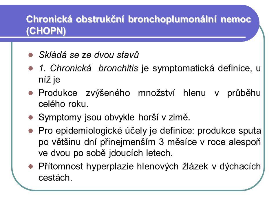 Chronická obstrukční bronchoplumonální nemoc (CHOPN)