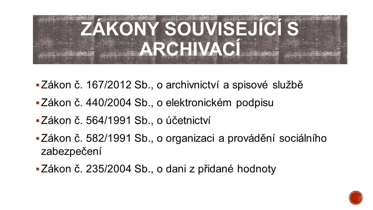 Zákony související s archivací