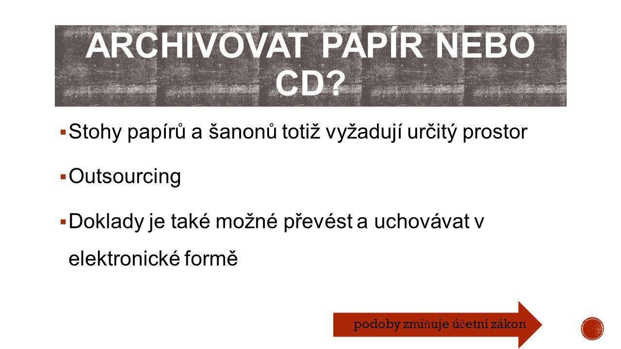Archivovat papír nebo CD