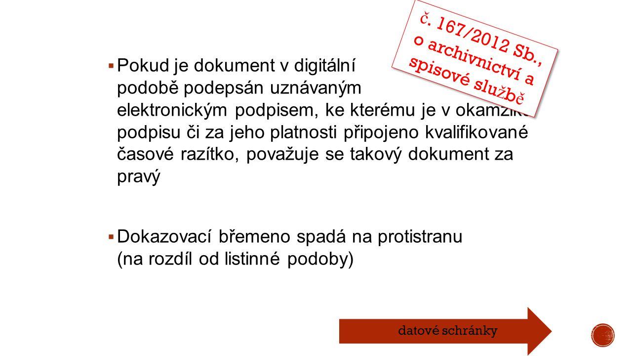 č. 167/2012 Sb., o archivnictví a spisové službě