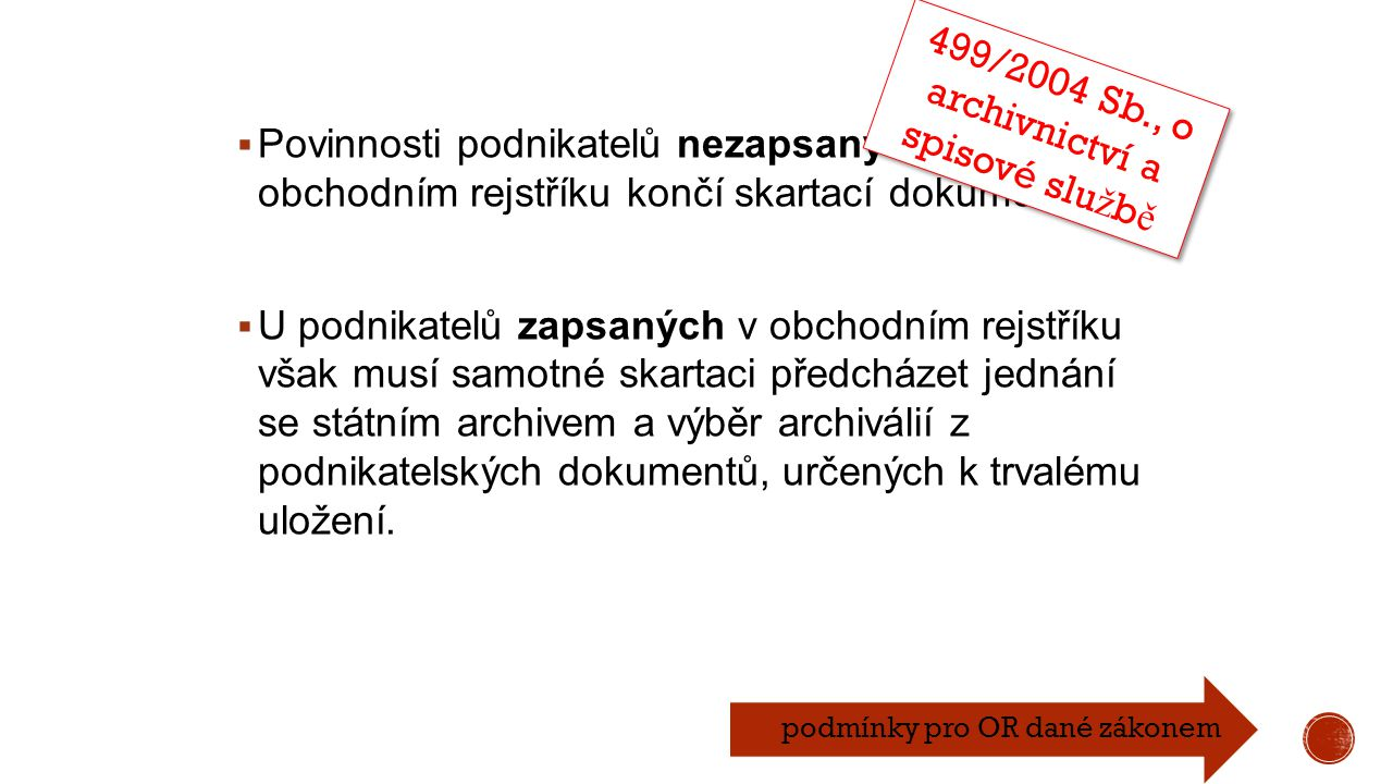 499/2004 Sb., o archivnictví a spisové službě
