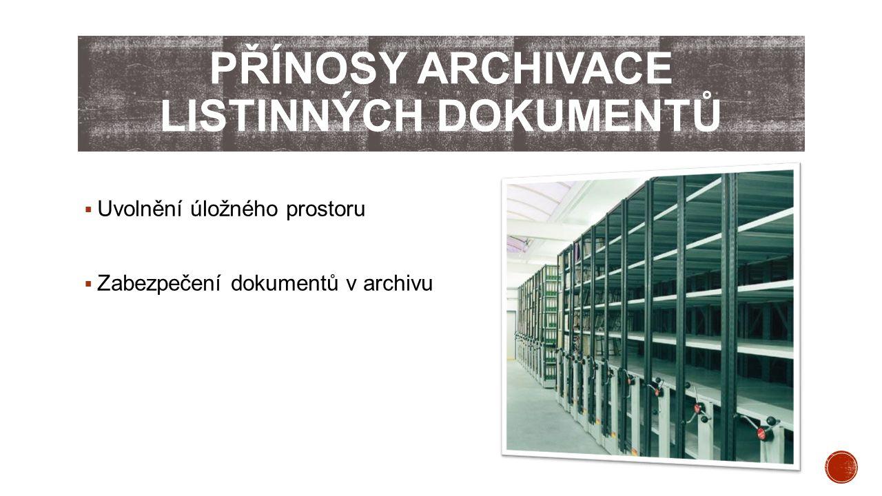 Přínosy archivace listinných dokumentů