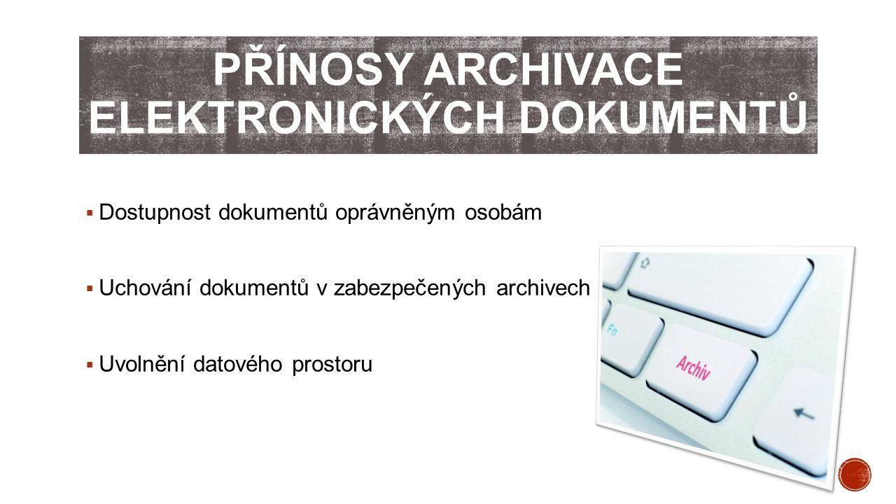 Přínosy archivace elektronických dokumentů