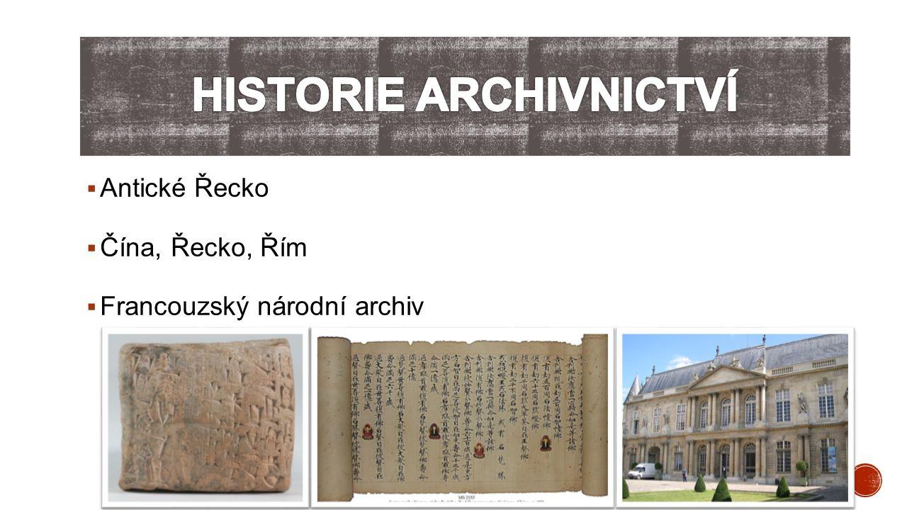 Historie archivnictví