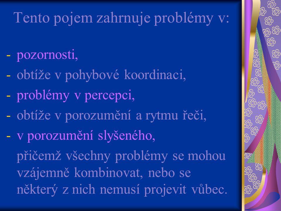 Tento pojem zahrnuje problémy v: