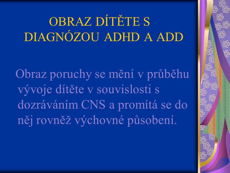 OBRAZ DÍTĚTE S DIAGNÓZOU ADHD A ADD