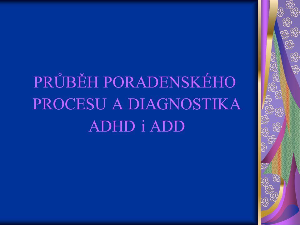 PRŮBĚH PORADENSKÉHO PROCESU A DIAGNOSTIKA ADHD i ADD