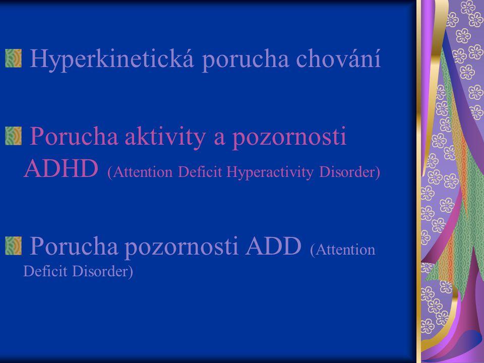 Hyperkinetická porucha chování