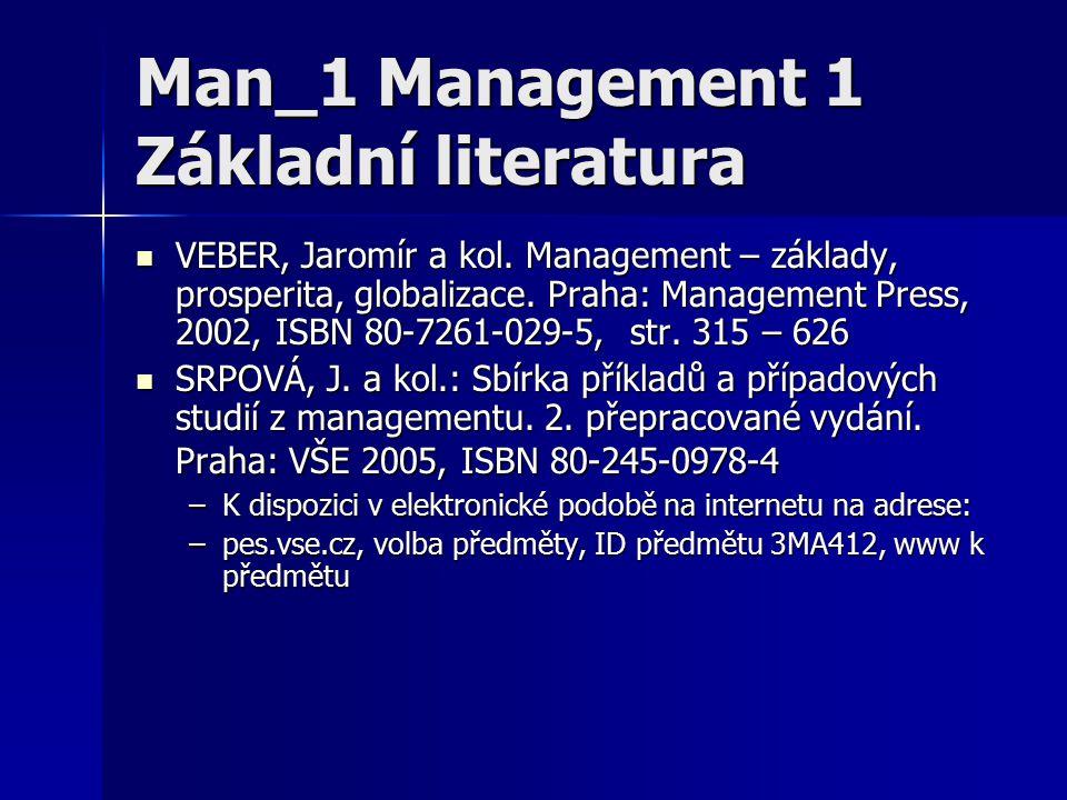 Man_1 Management 1 Základní literatura