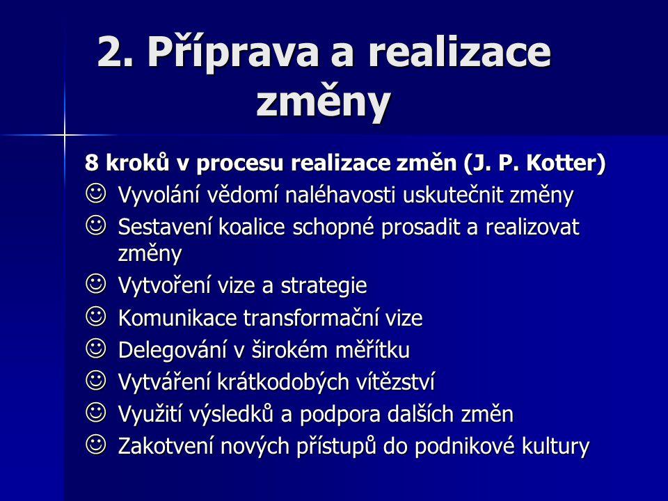 2. Příprava a realizace změny