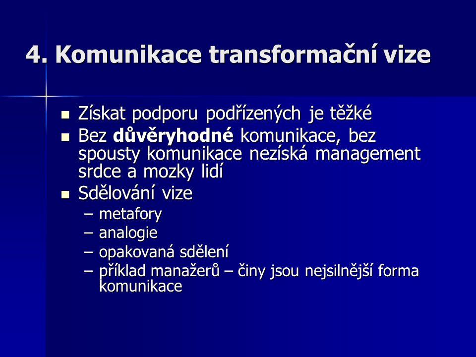 4. Komunikace transformační vize