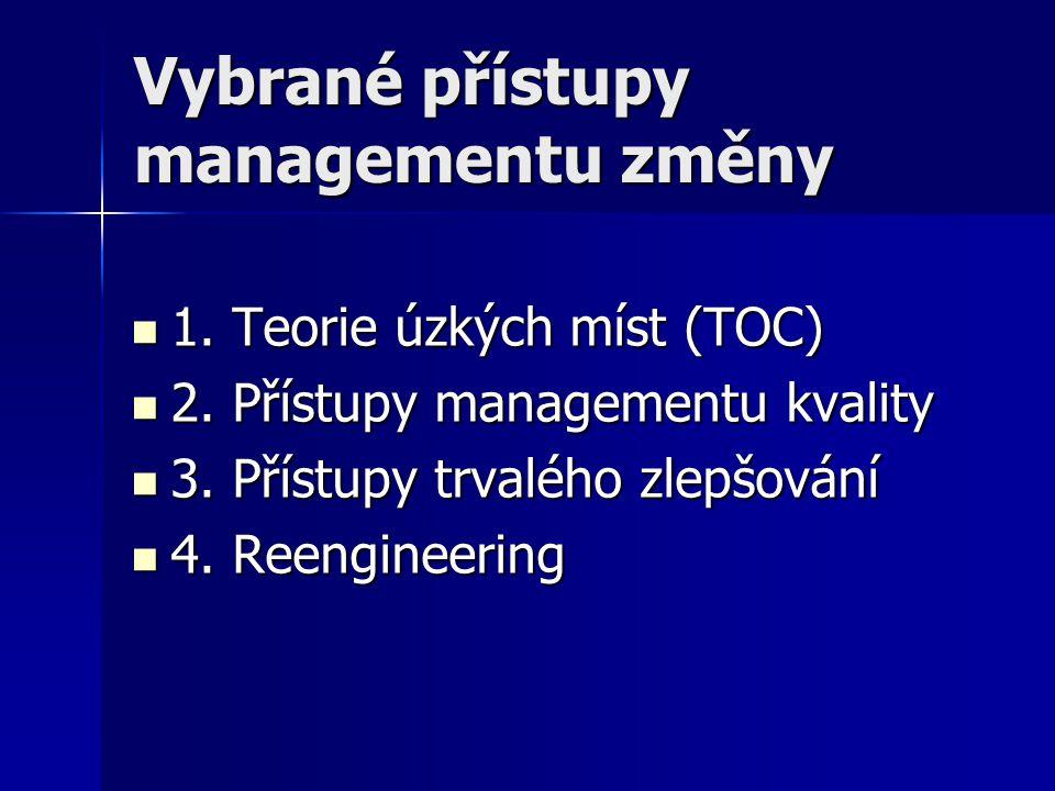 Vybrané přístupy managementu změny