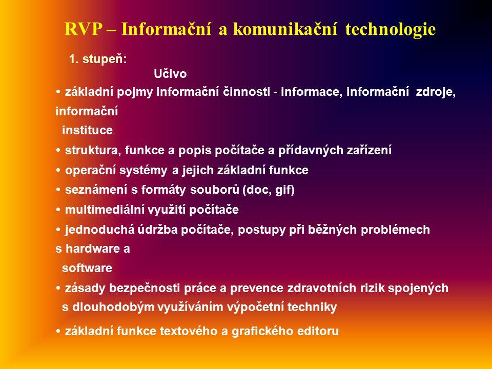 RVP – Informační a komunikační technologie