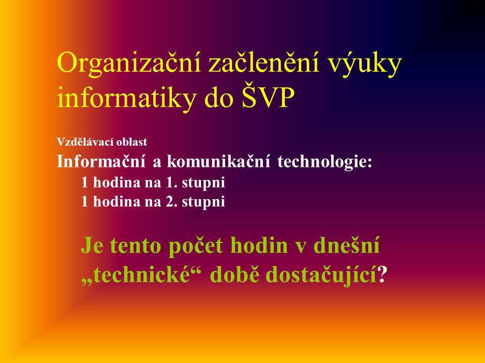 Organizační začlenění výuky informatiky do ŠVP