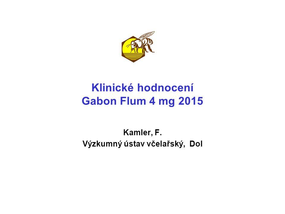 Klinické hodnocení Gabon Flum 4 mg 2015