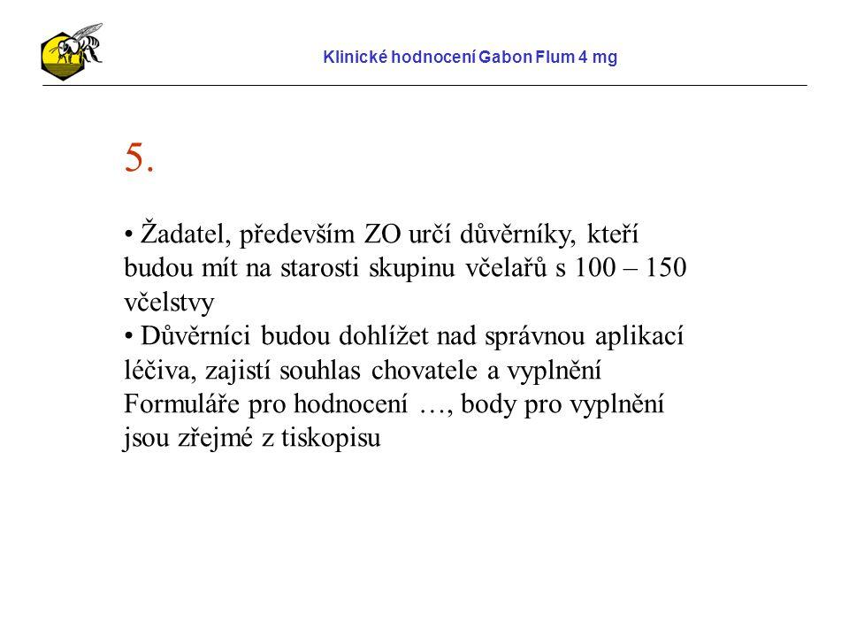 Klinické hodnocení Gabon Flum 4 mg