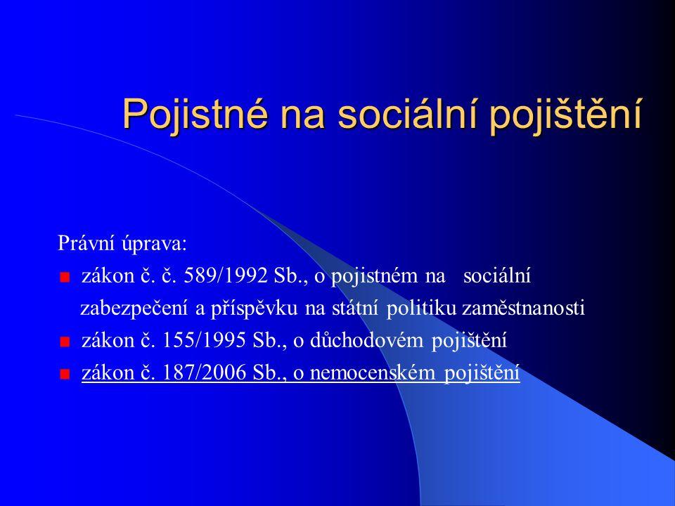 Pojistné na sociální pojištění