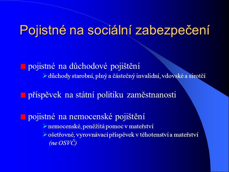 Pojistné na sociální zabezpečení