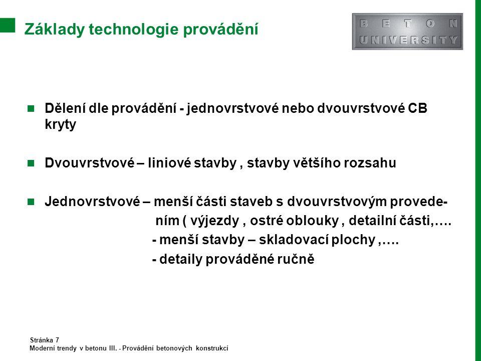 Základy technologie provádění