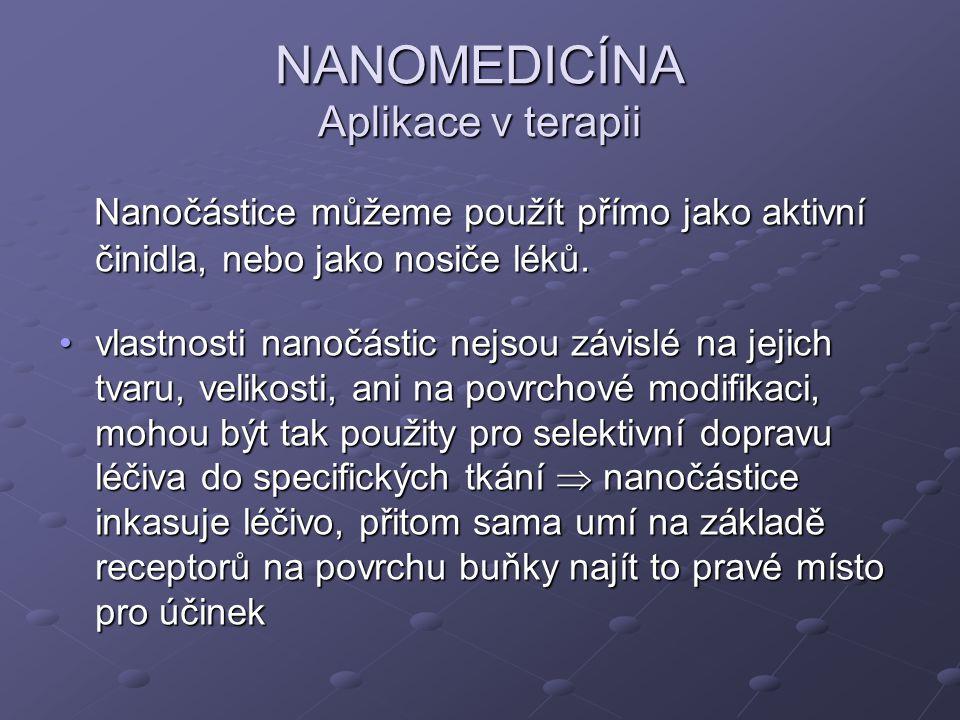 NANOMEDICÍNA Aplikace v terapii