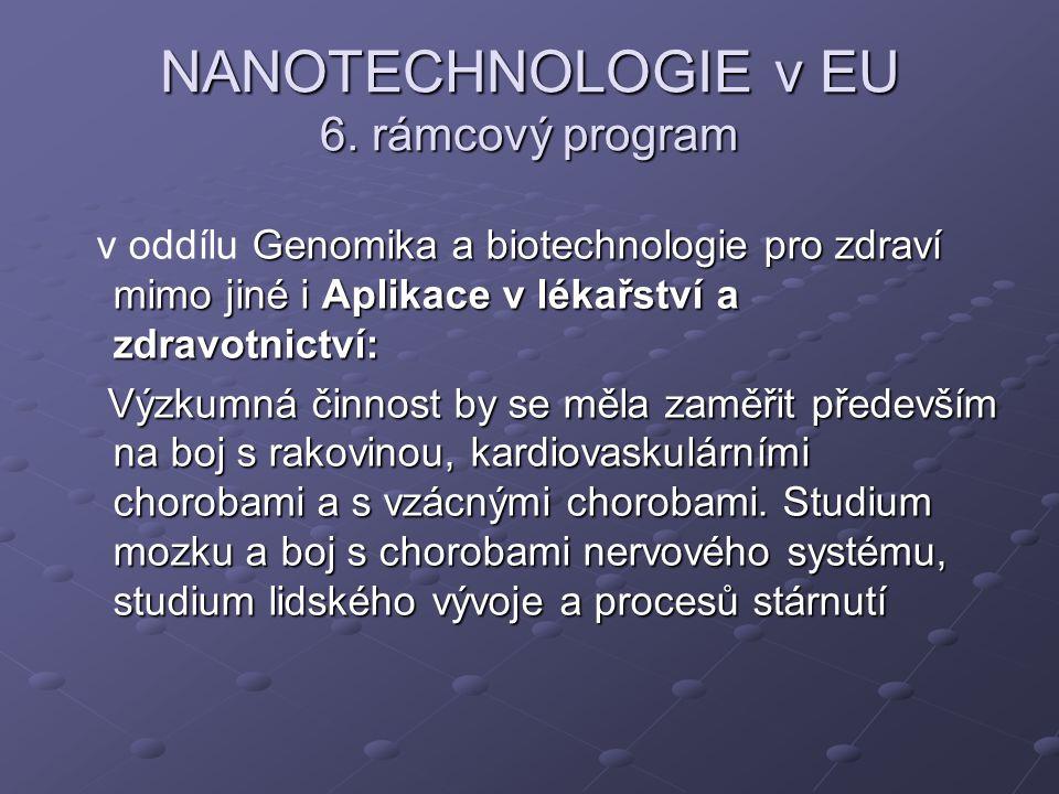 NANOTECHNOLOGIE v EU 6. rámcový program