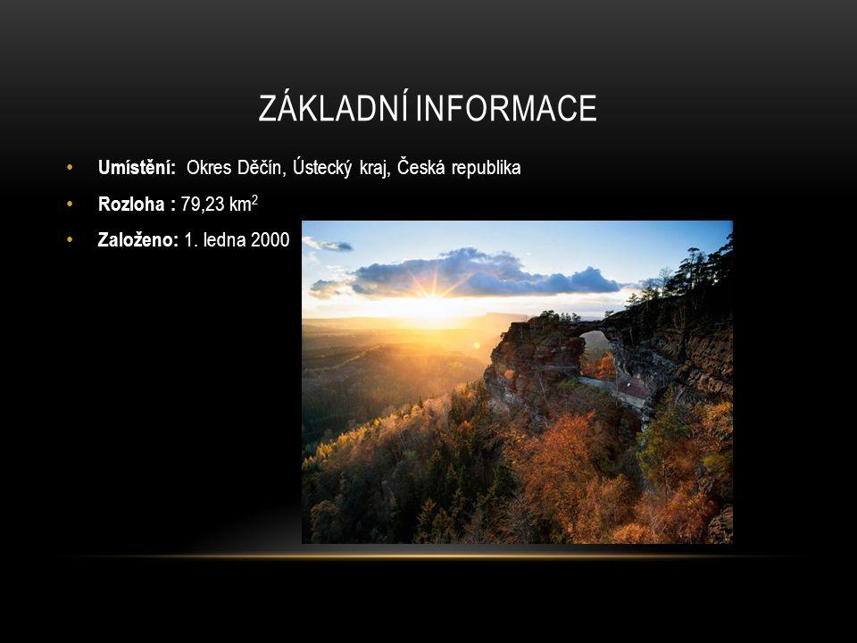 Základní informace Umístění: Okres Děčín, Ústecký kraj, Česká republika.