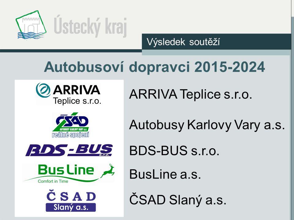 Autobusoví dopravci 2015-2024 ARRIVA Teplice s.r.o.