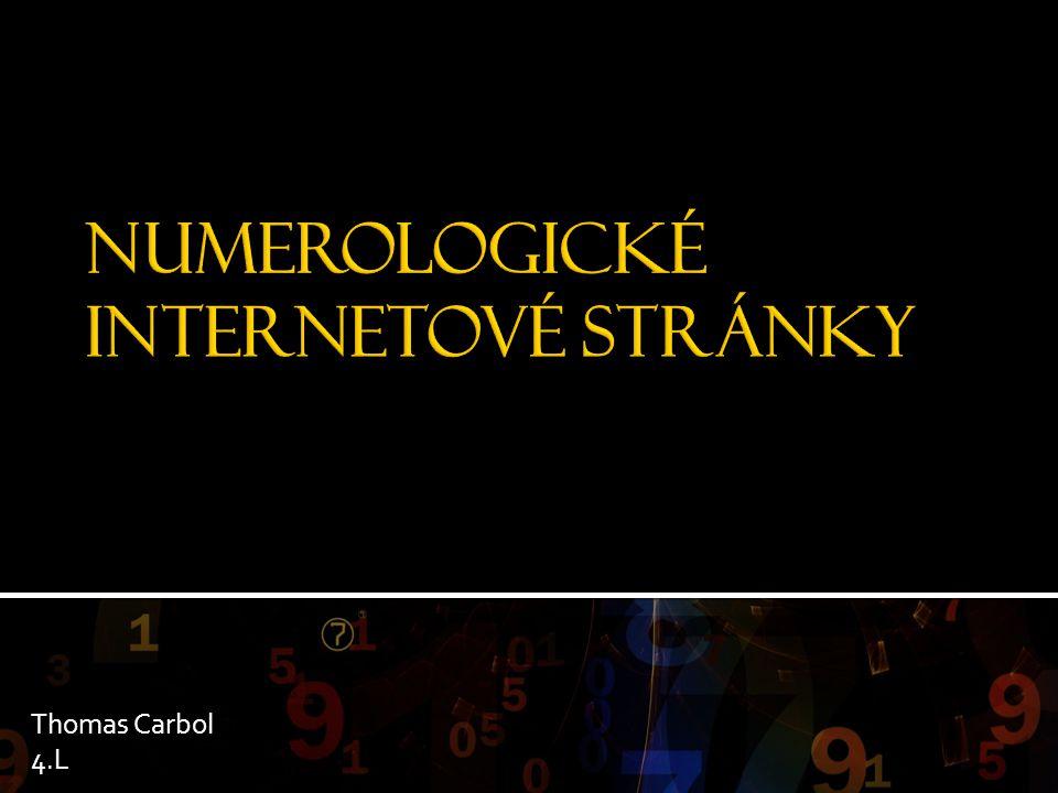 NUMEROLOGICKÉ INTERNETOVÉ STRÁNKY