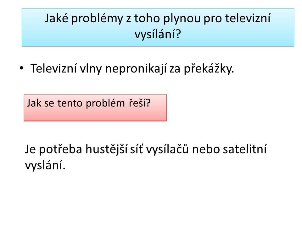 Jaké problémy z toho plynou pro televizní vysílání