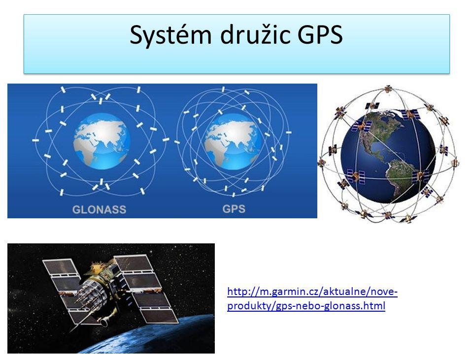 Systém družic GPS http://m.garmin.cz/aktualne/nove-produkty/gps-nebo-glonass.html