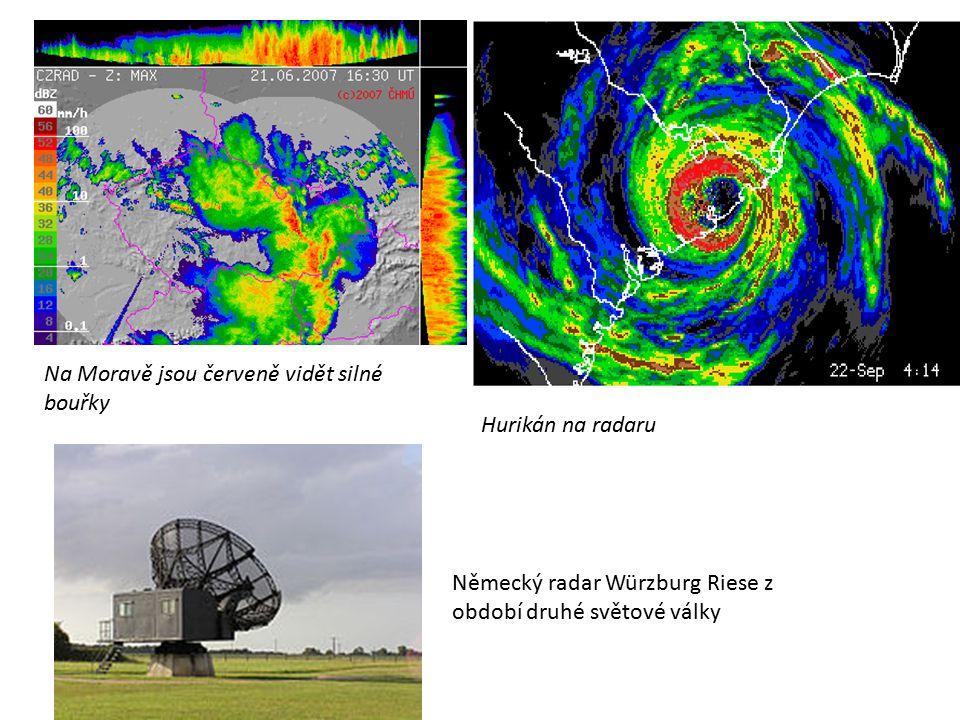 Na Moravě jsou červeně vidět silné bouřky