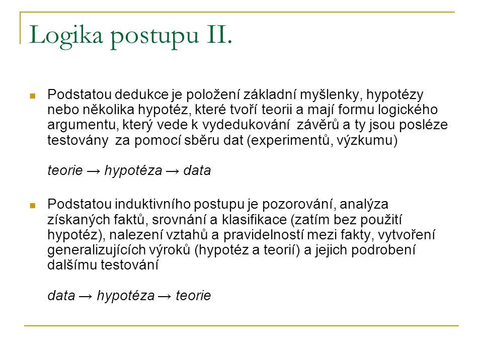 Logika postupu II.
